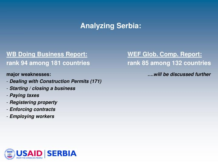 Analyzing Serbia: