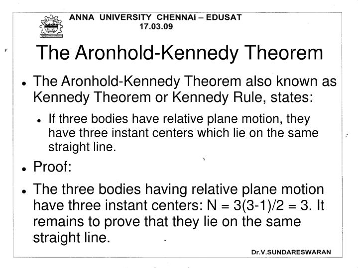 The Aronhold-Kennedy Theorem