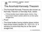 the aronhold kennedy theorem