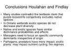 conclusions houlahan and findlay