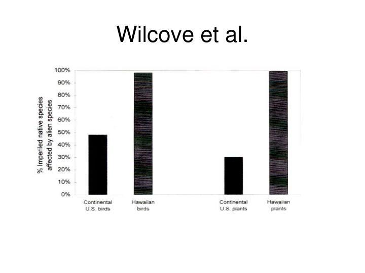 Wilcove et al.