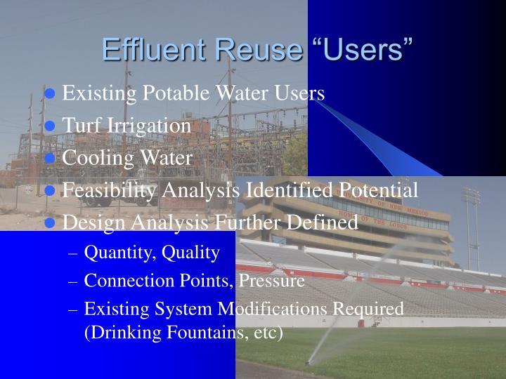 "Effluent Reuse ""Users"""