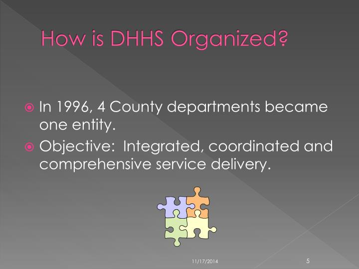 How is DHHS Organized?