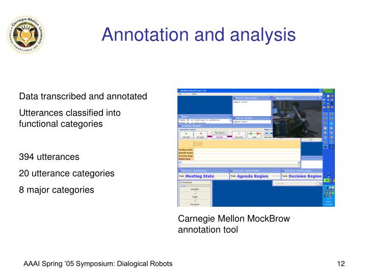 Annotation and analysis