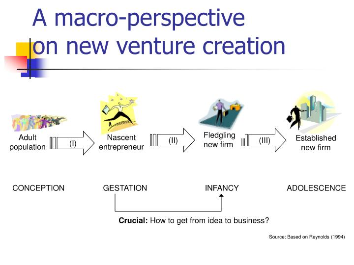 A m acro p erspective o n new venture creation