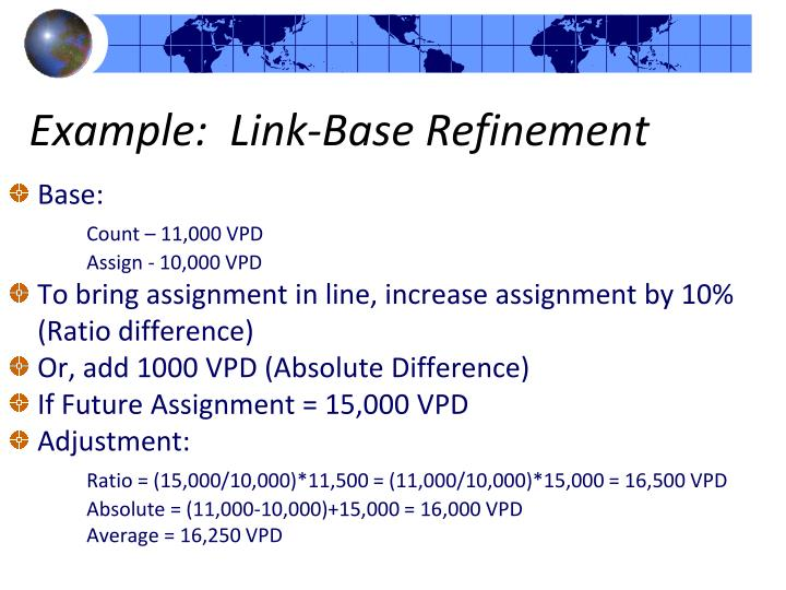 Example:  Link-Base Refinement