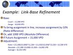 example link base refinement