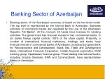 banking sector of azerbaijan