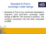 standard poor s sovereign credit ratings