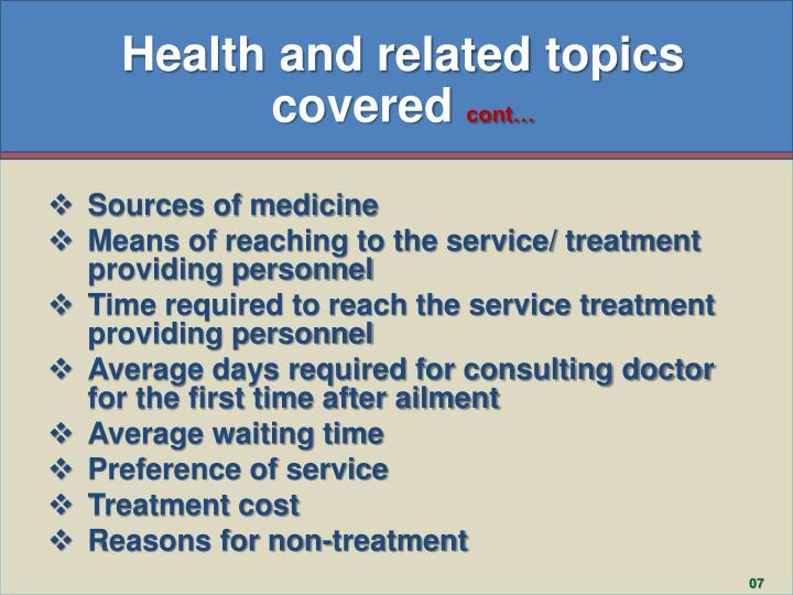 Health and related