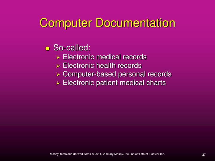 Computer Documentation