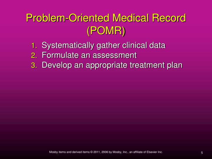 Problem-Oriented Medical Record