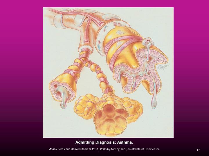 Admitting Diagnosis: Asthma.