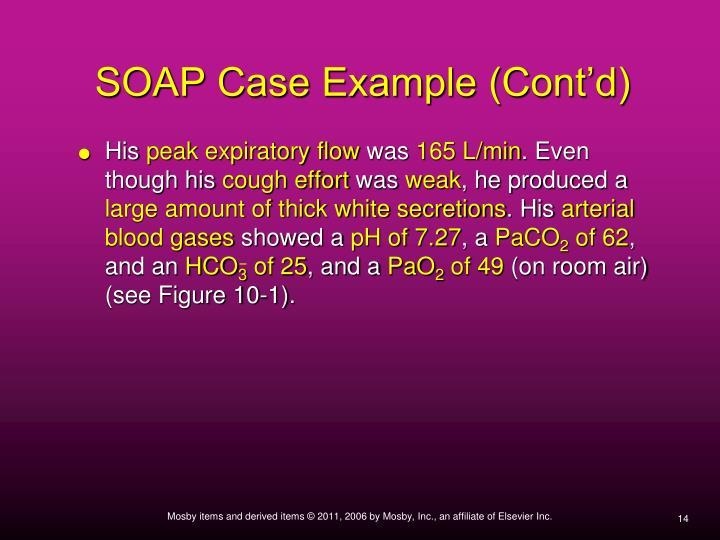 SOAP Case Example (Cont'd)