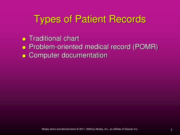 Types of Patient Records