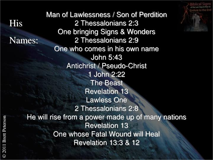 Man of Lawlessness / Son of Perdition