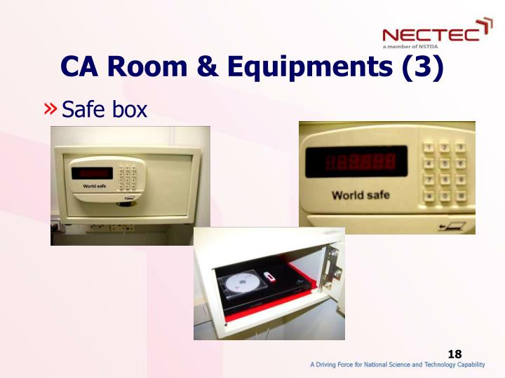 CA Room & Equipments (3)