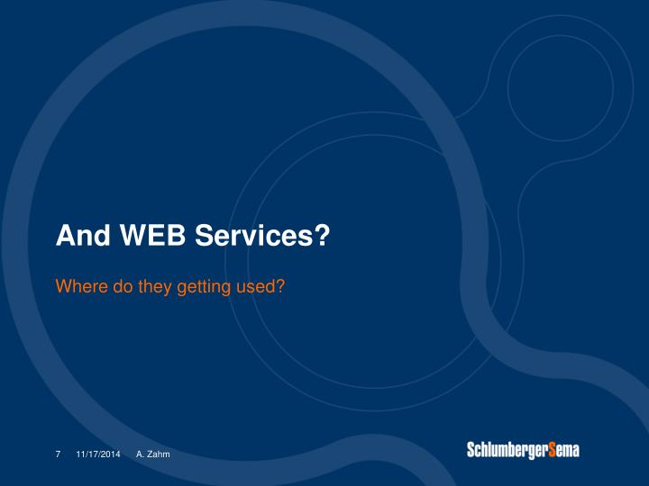 And WEB Services?