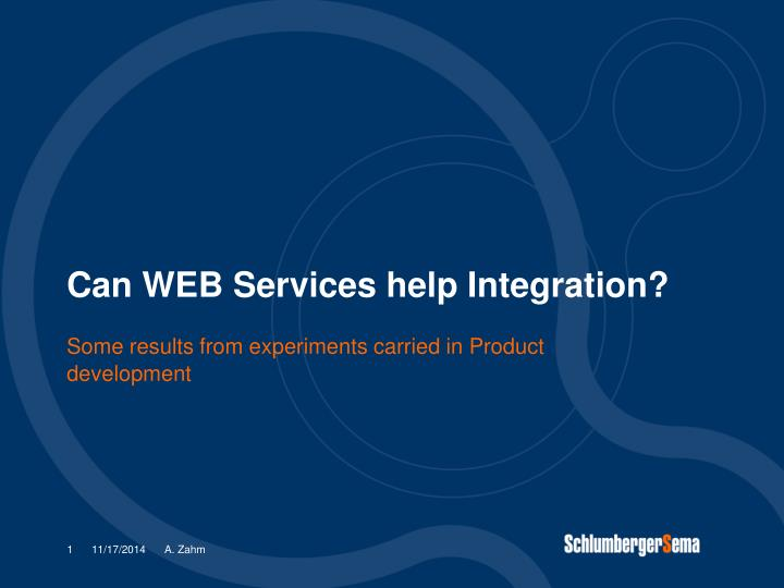 Can web services help integration