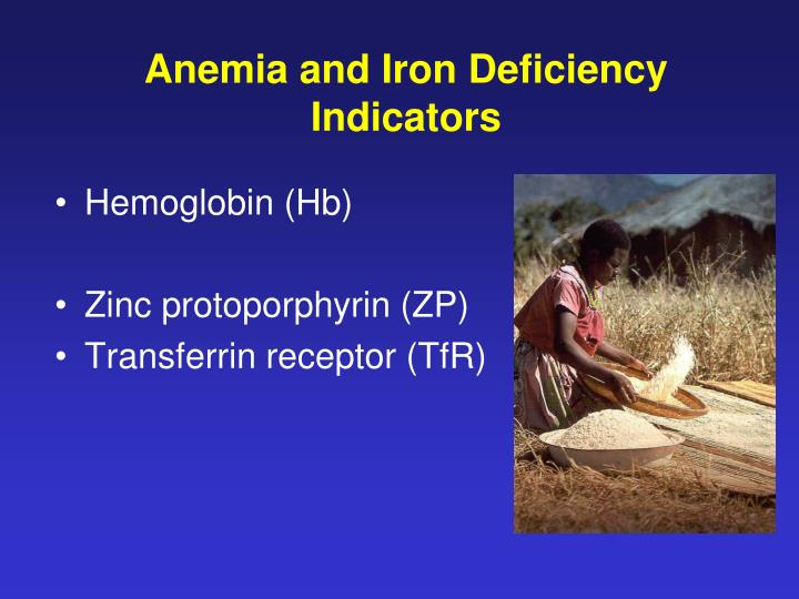 Anemia and Iron Deficiency Indicators