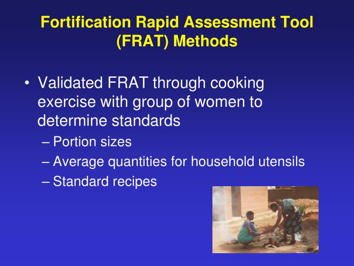Fortification Rapid Assessment Tool