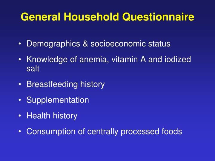 General Household Questionnaire
