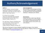 authors acknowledgement