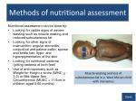 methods of nutritional assessment