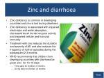zinc and diarrhoea