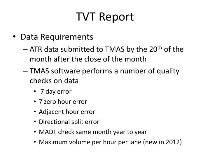 TVT Report