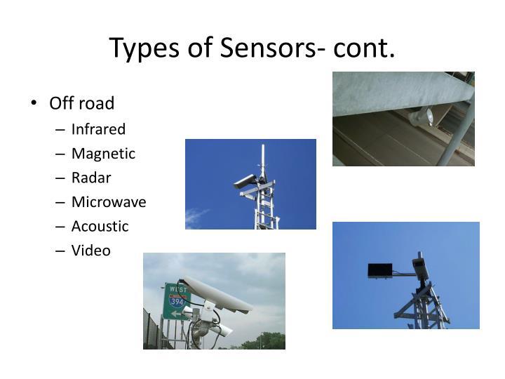 Types of Sensors- cont.