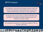 wfpa mission