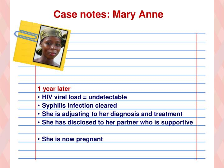 Case notes: Mary Anne