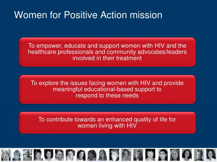 Women for Positive Action mission