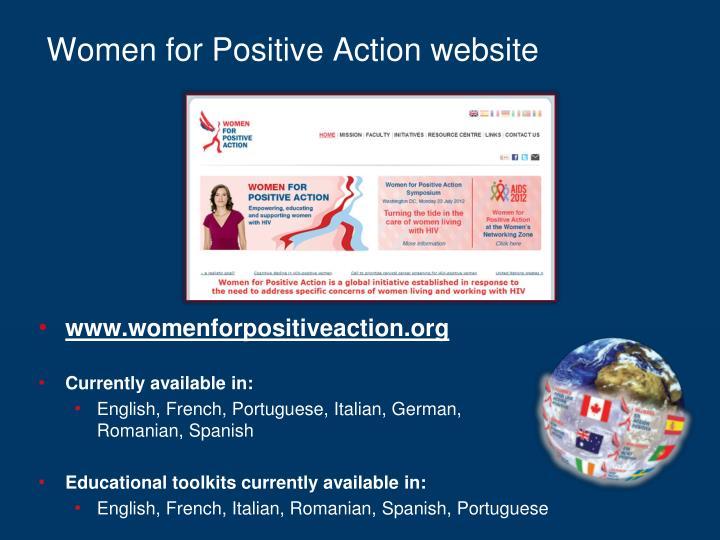 Women for Positive Action website