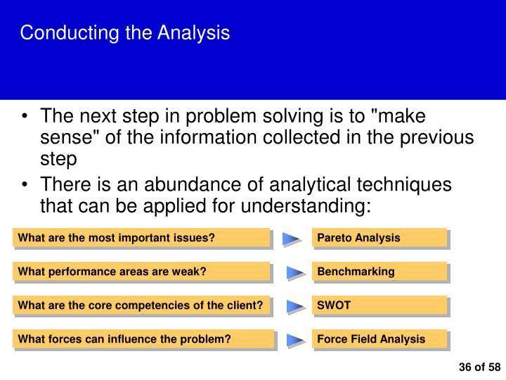 Conducting the Analysis