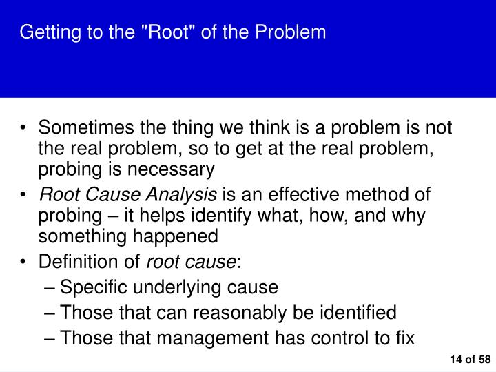 """Getting to the """"Root"""" of the Problem"""