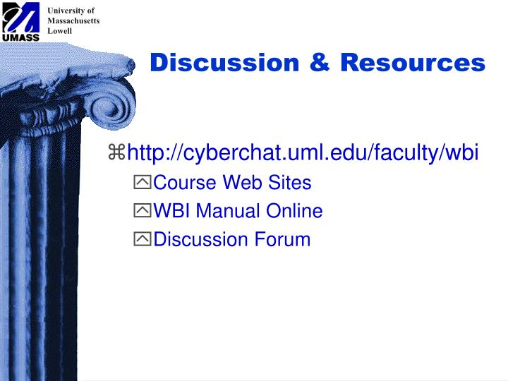 Discussion & Resources
