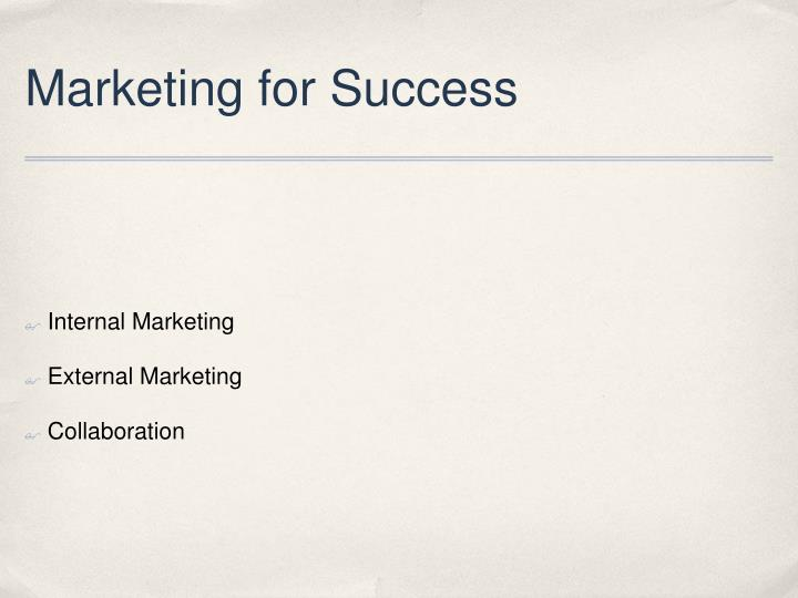 Marketing for Success
