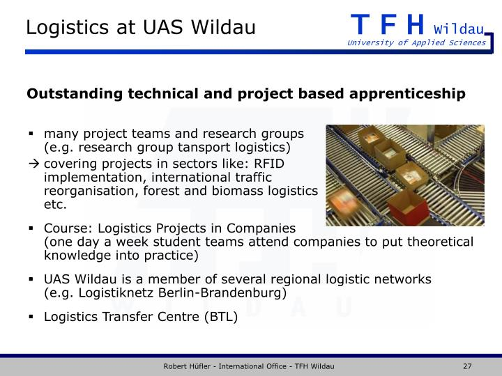 Logistics at UAS Wildau