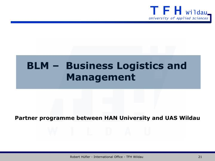 BLM –  Business Logistics and