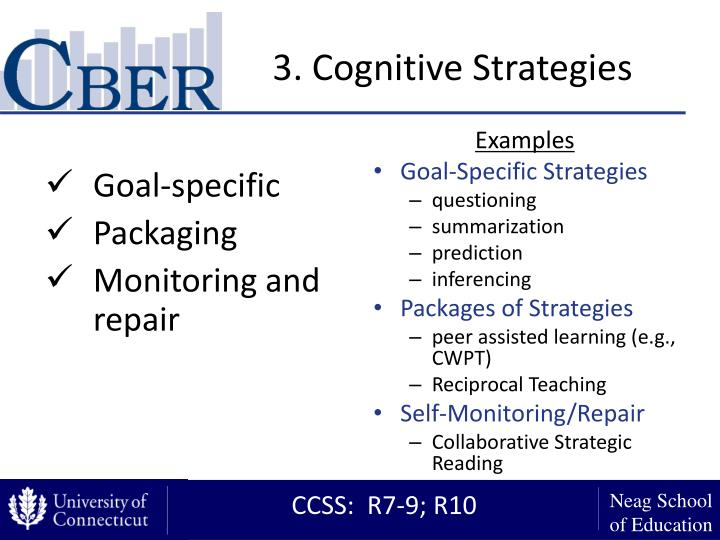 3. Cognitive Strategies