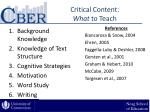 critical content what to teach
