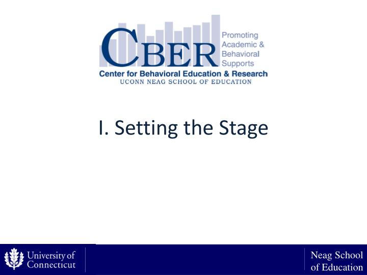 I. Setting the Stage