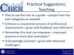 practical suggestions teaching