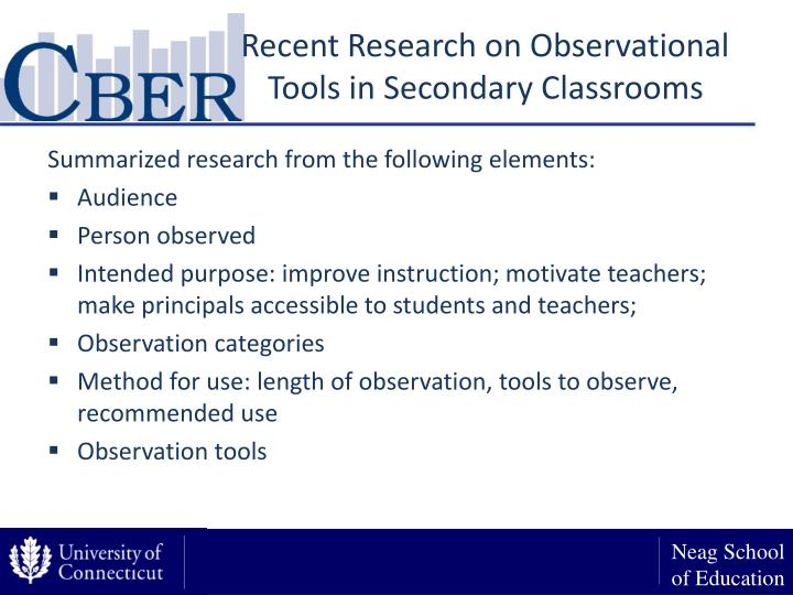 Recent Research on Observational