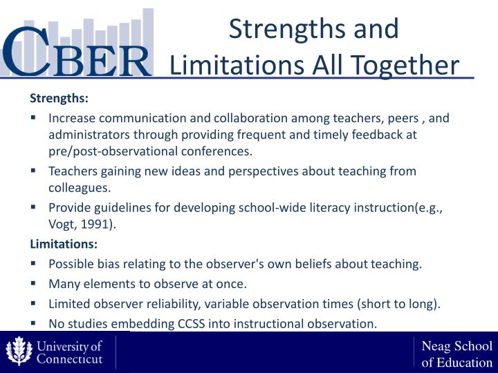 Strengths and Limitations All Together
