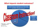 what impacts student outcomes