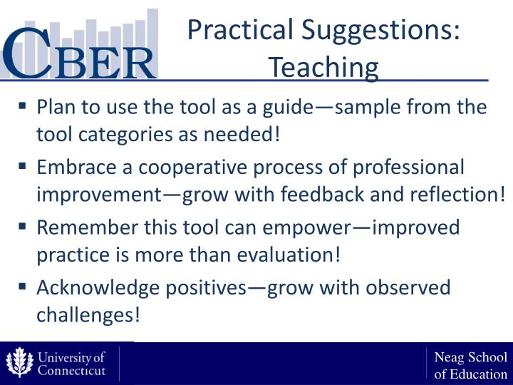 Practical Suggestions: Teaching