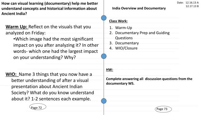 How can visual learning (documentary) help me better understand concepts and historical information about Ancient India?